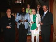 Fearless Feminists: (front l-r) Pamela Macklin, La'Tashe Mayes, Phyllis Wetherby, Rep. Dan Frankel; (back l-r) Joanne Tosti-Vasey, Rep. Erin Molchany