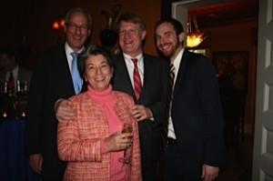 Rep. Dan Frankel, Allegheny County Executive Rich Fitzgerald, City Councilmember Dan Gilman, and Attorney Andrea Geraghty