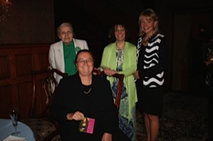 (l-r) Phyllis Wetherby, Pamela Macklin (seated), Joanne Tosti-Vasey, Judge Christine Donohue