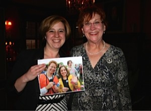 Rep Erin Molchany & Jeanne Clarke holding a picture of themselves from March for Women's Lives 2004