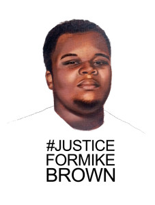 Justice for Mike Brown by Tatyana Fazlalizadeh