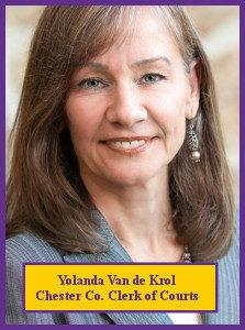 Yolanda Van de Krol, Chester County Clerk of Courts